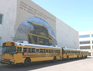 Arriving nearly every day, buses brought students from as far way as Yuma. Mineral Museum field trips were a high priority for K-12 teachers, and they brought over 25,000 students every year.