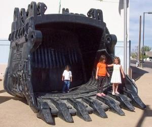 Shovel Bucket - photo courtesy of www.miningmineralmuseum.com